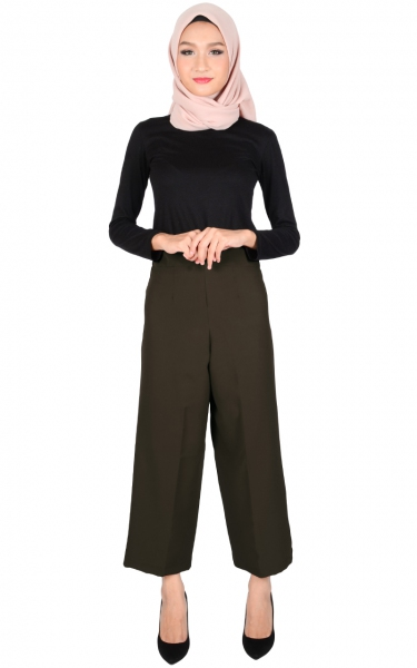 ADELYN WIDE LEGGED PANTS - DARK GREY