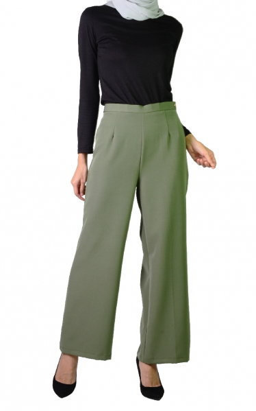 QISTY PALAZO PANTS - JUNIPER GREEN