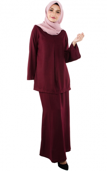 (FAMILY SET) BAJU KURUNG CATALINA - MAROON