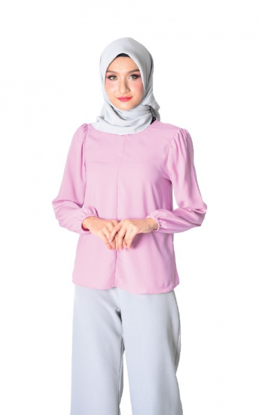 DAISY FLARED BLOUSE - PINK PURPLE