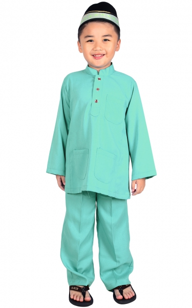 (FAMILY SET) KIDS BAJU MELAYU JADEN - LIGHT BLUE