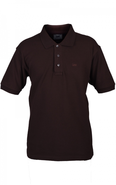 LEE POLO PIQUE - DARK BROWN