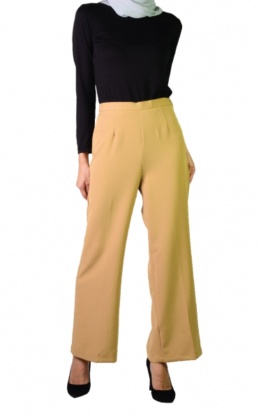 QISTY PALAZO PANTS - GOLD