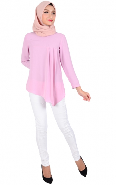 IQALA FLARE BLOUSE - PINK PURPLE