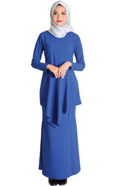 (FAMILY SET) BAJU KURUNG DAIYAN - ROYAL BLUE