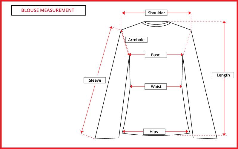 Size Chart Blouse